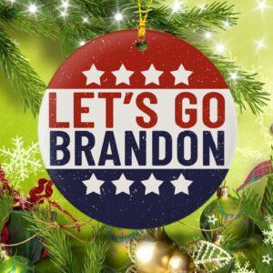Let's Go Brandon Christmas Ornament Tree Decor