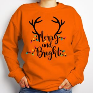 Merry And Bright Christmas Gildan Long Sleeve