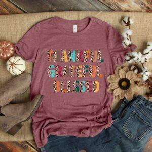 Thankful Grateful Blessed Thanksgiving Gildan Shirt Colors